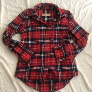 Adorable flannel in red and blue